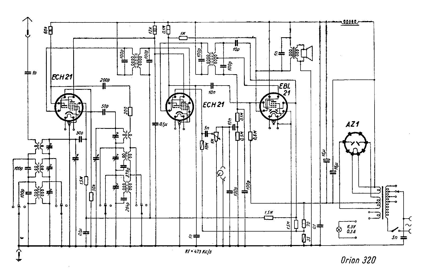 Sound Wiring Schematic Free Service Manuals Vintage Valve Radio Circuits Schematics