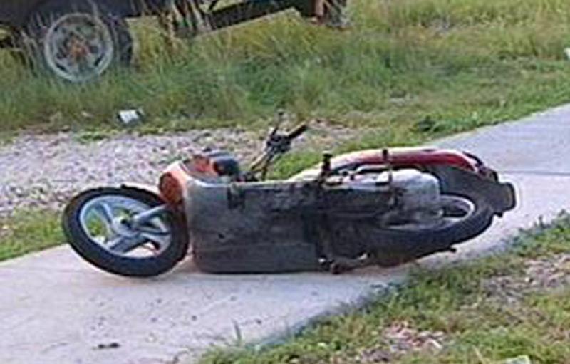 Le pilote du scooter ne portait pas de casque (illustration) © DR