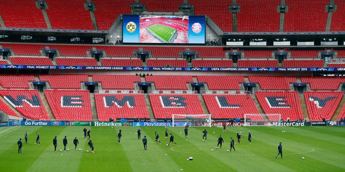 Wembley, ici avant la finale de la Ligue des champions 2013, accueillera la finale de l'Euro 2020. © REUTERS