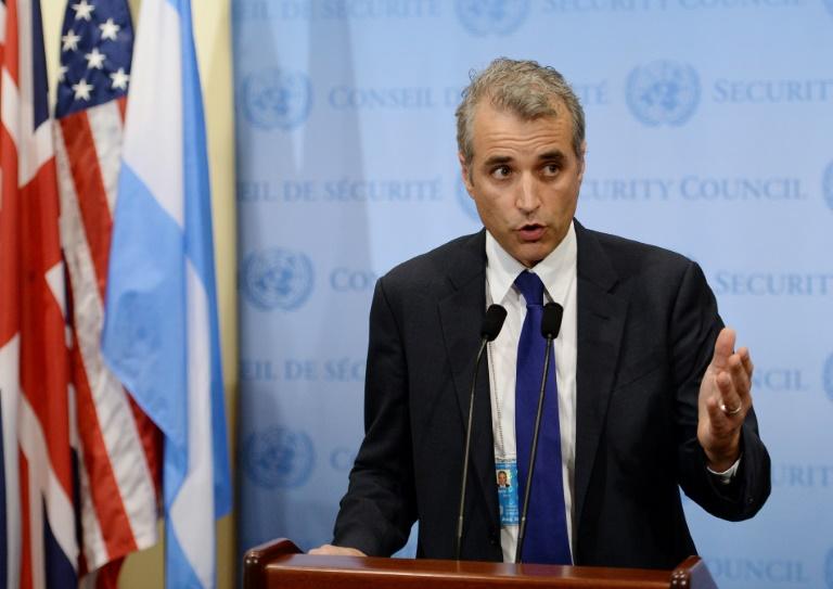 L'ambassadeur adjoint français auprès des Nations unies, Alexis Lamek, le 16 septembre 2013 au siège de l'Onu, à New York. © AFP