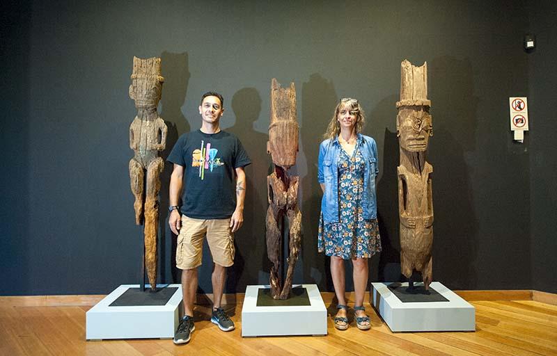 Tara Hiquily et Christel Vieille-Ramseyer, commissaires de l'exposition Tiki © Cédric Valax