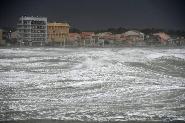 Tempête à Palavas-les-Flots, près de Montepellier, dans le sud de la France, le 13 octobre 2016. © AFP