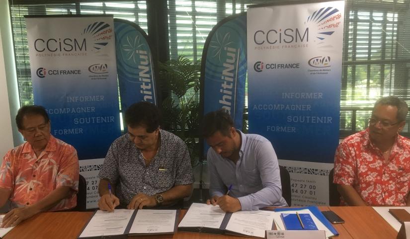 MakeSense accompagnera la CCISM dans les premières actions à mettre en place pour favoriser l'implantation de l'incubateur au fenua © CCISM