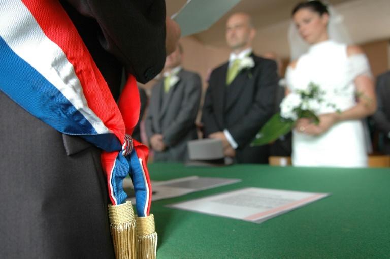 Un mariage à la mairie de Caen le 8 mars 2009. © AFP