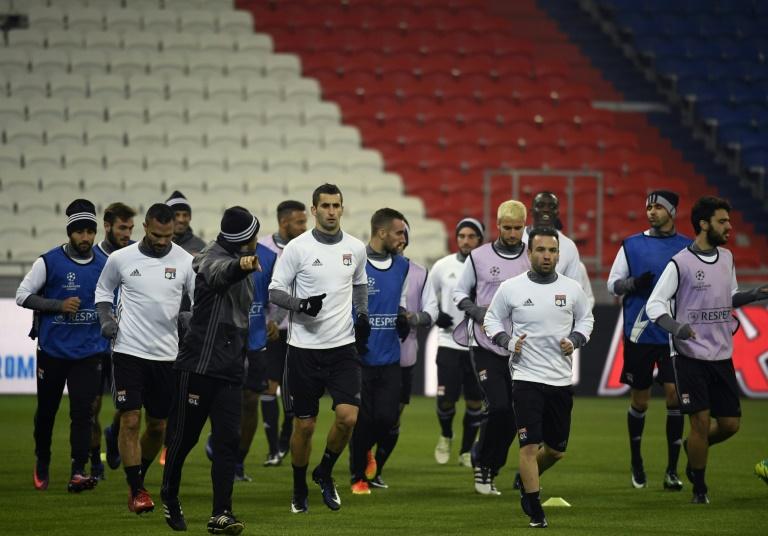 Les Lyonnais à l'entraînement, le 6 décembre 2016 à Décines-Charpieu (Rhône). © AFP