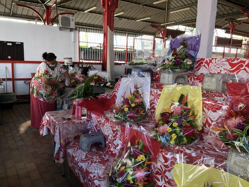 fleurs marché papeete
