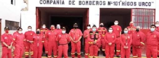 Cuerpo de bomberos de Chachapoyas recibe vacuna contra la covid-19