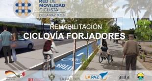 Se trabajará en la rehabilitación de la ciclovía Forjadores