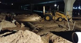 Repara SAPA La Paz tubería de 20 pulgadas correspondiente al acueducto #2