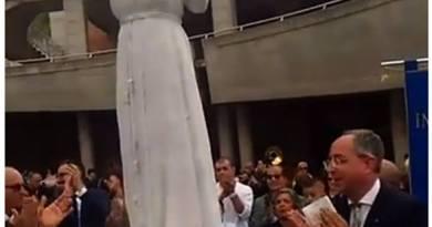 Donata dal Rotary alla città di Acri la statua di Sant'Angelo