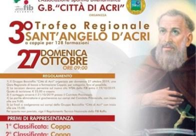 """Bocce, ad Acri la terza edizione della gara regionale """"Trofeo Sant'Angelo""""."""