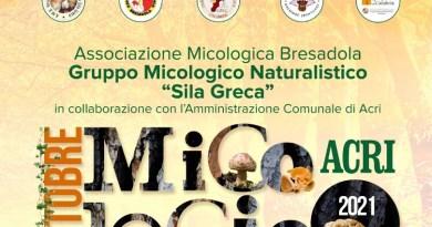 """Acri – Sabato e domenica l'""""Ottobre micologico"""""""