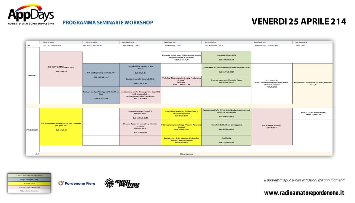 ProgrammaAppDaysVenerdi25Aprile20141 1200x685 Calendario, programma e orari workshop AppDays 2014
