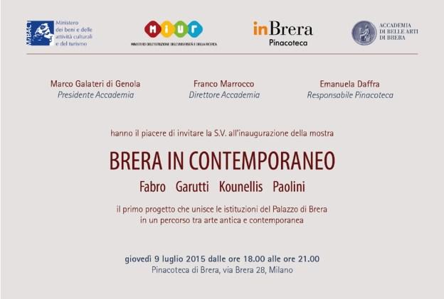 Invitation to Brera in Contemporaneo