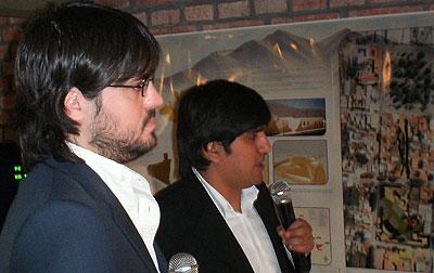 Gabriel Fernández y Alejandro Núñez en la presentación de este proyecto