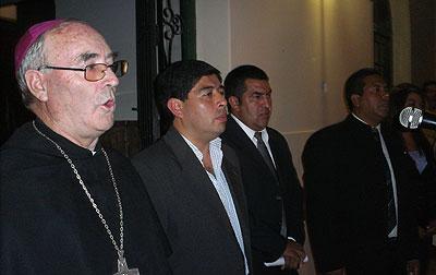 Asunción de los nuevos concejales con la presencia de Monseñor Mariano Moreno