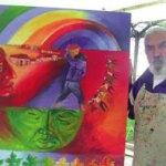 El plástico cafayateño Hugo Guantay en Bolivia