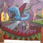 Jóvenes en tratamiento de rehabilitación confeccionan un mural