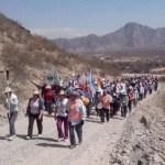 Peregrinos de Molinos caminan hacia Cafayate