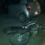 Chocaron un auto y una moto en la acceso a Cafayate