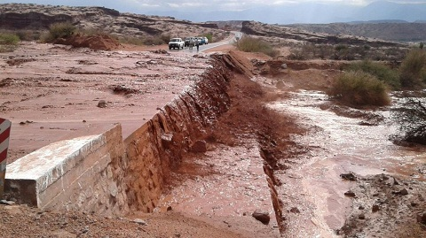 El corte de este lunes se debió al caudal de agua y barro que bajaba de los cerros. Foto: FM Profesional