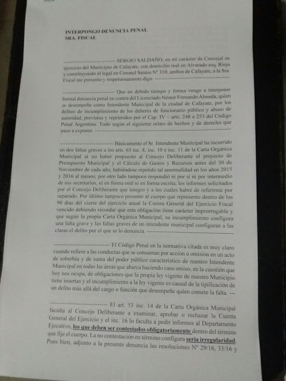 0 almeda denuncia pena 2l