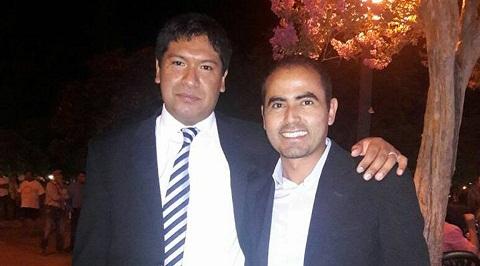 Daniel Guantay y Sergio Saldaño el día de la asunción de concejales. Foto: Facebook de Sergio Saldaño