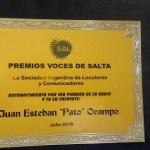 Distinción para «El Pato» Ocampo