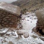 Nieve y escarcha en los cerros de Cafayate