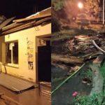 Un fuerte temporal de agua, granizo y viento dejó evacuados y diversos daños en La Viña