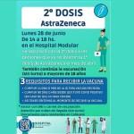 Ya están disponibles las segundas dosis de AztraZeneca en Cafayate