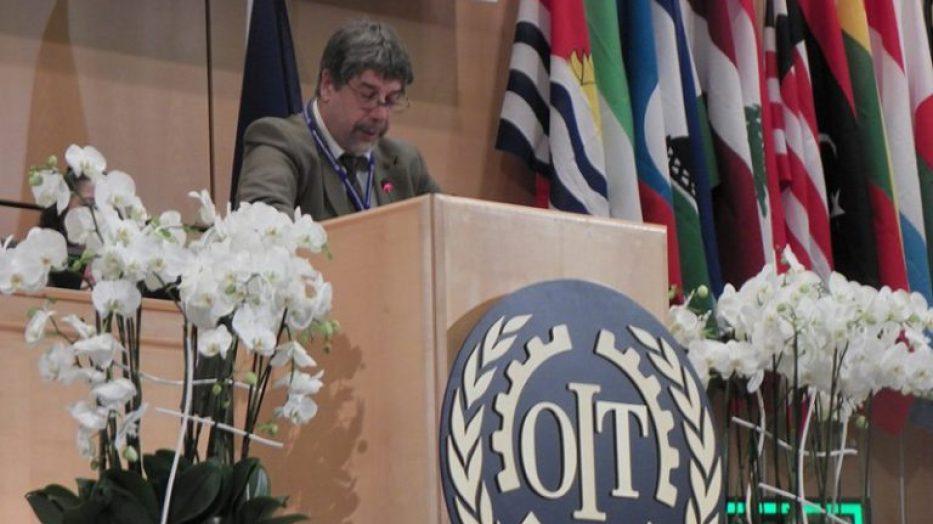 Gambera y Vázquez hablaron en la OIT
