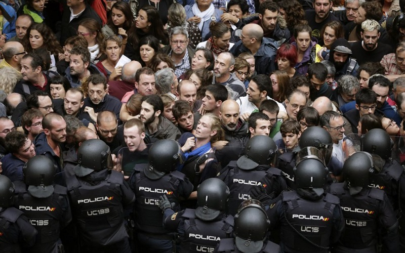 Referéndum en Cataluña y la huelga general