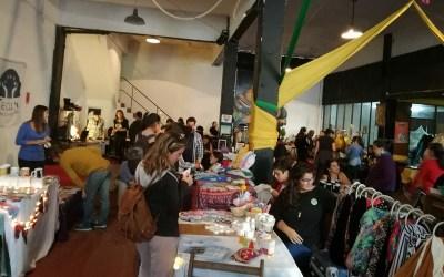 Colectivo feminista va por su tercera feria itinerante