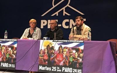 PARO GENERAL   Conferencia de prensa del PIT-CNT