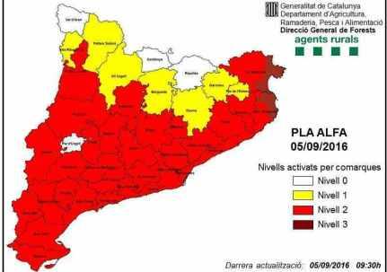 mapa de risc del pla alfa
