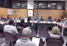 Ple municipal Santa Cristina d'Aro en una imatge d'arxiu