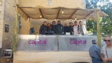 Part de l'equip de Ràdio Capital a la Fira d'Indians del 2017