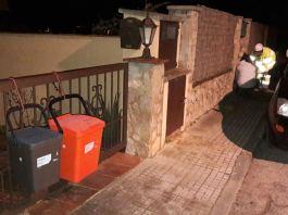 Imatge dels contenidors de la porta a porta a Begur