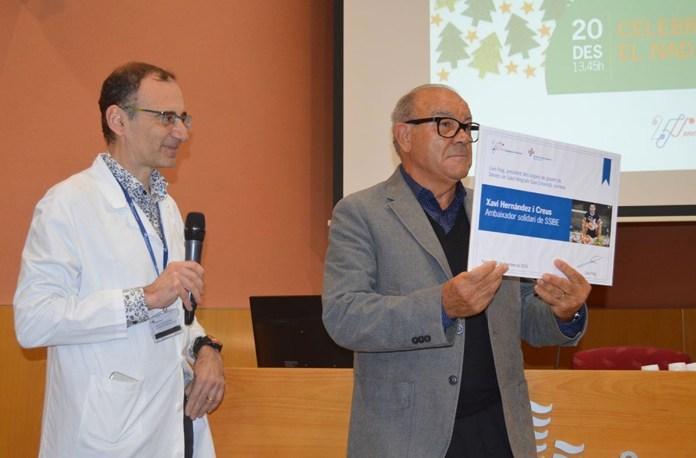 Presentació de Xavi Hernández com a nou ambaixador solidari de l'Hospital de Palamós | Imatge del SSIBE
