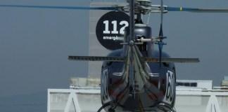 Helicòpter sobrevolant el centre de trucades de Catalunya CAT112 a Reus | Imatge de Protecció Civil