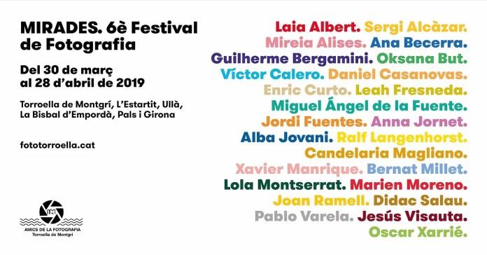 Cartell informatiu del Festival Mirades 2019 a Torroella de Montgrí
