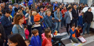 Manifestació Escola Gaziel a Sant Feliu de Guíxols