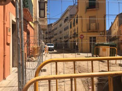 Obres al carrer Ample de la Bisbal d'Empordà | Imatge de l'Ajuntament