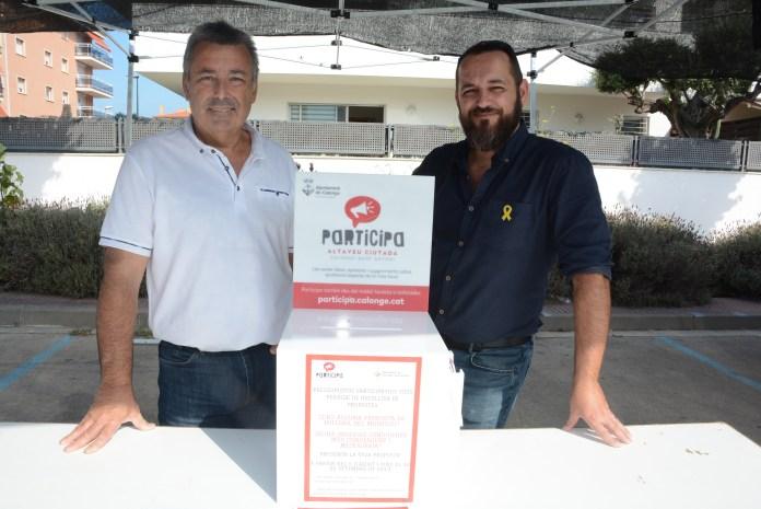 Zona de votació ciutadana al Mercat de Calonge i Sant Antoni   Imatge de l'Ajuntament