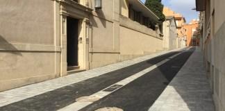 El Carrer Cervantes de Palafrugell durant les obres | Imatge de l'Ajuntament de Palafrugell