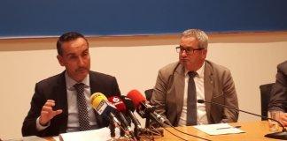 Joan Pere Gómez Comes, gerent de Ports de la Generalitat de Catalunya en una roda de premsa | Imatge de Ports de la Generalitat