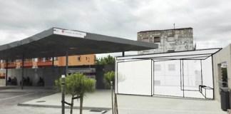 Fotomuntatge de les obres de millora a l'estació de bus de Torroella de Montgrí | Imatge de la Generalitat de Catalunya