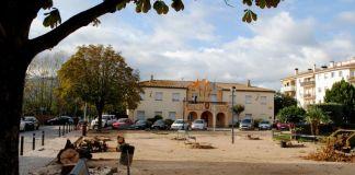 Obres a la plaça Baldiri Reixac - Imatge de l'Ajuntament de Santa Cristina d'Aro