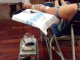 Imatge d'arxiu d'una donació de sang